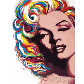 Мэрелин Монро Раскраска картина по номерам на холсте GX26686
