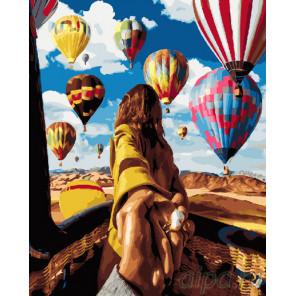 В небо Раскраска картина по номерам на холсте GX24420