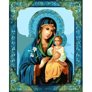 Икона Божией Матери Раскраска картина по номерам на холсте