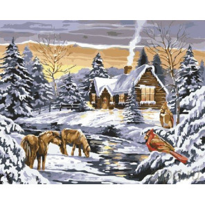 На закате дня Раскраска картина по номерам на холсте