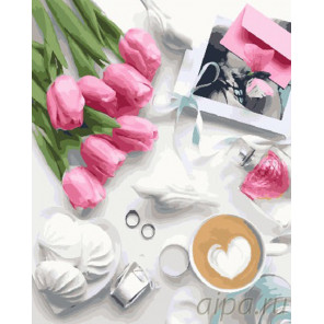 Утренние розы Раскраска картина по номерам на холсте GX26652