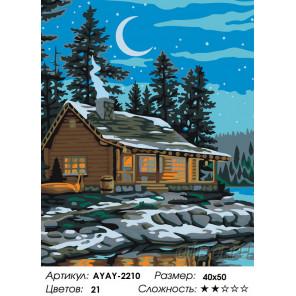 Количество цветов и сложность Ночь над озером Раскраска по номерам на холсте Живопись по номерам AYAY-2210
