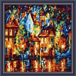 Амстердам 40х40 Раскраска по номерам акриловыми красками на холсте Hobbart