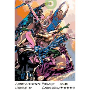 Количество цветов и сложность Атакующие Раскраска по номерам на холсте Живопись по номерам Z1019273