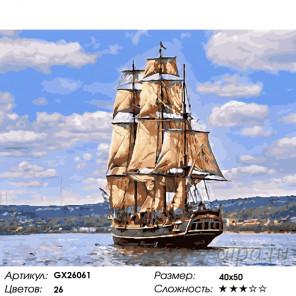 Количество цветов и сложность Морской пейзаж Раскраска по номерам на холсте GX26061